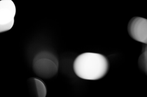 White Bokeh Effect Black And White Bokeh | by