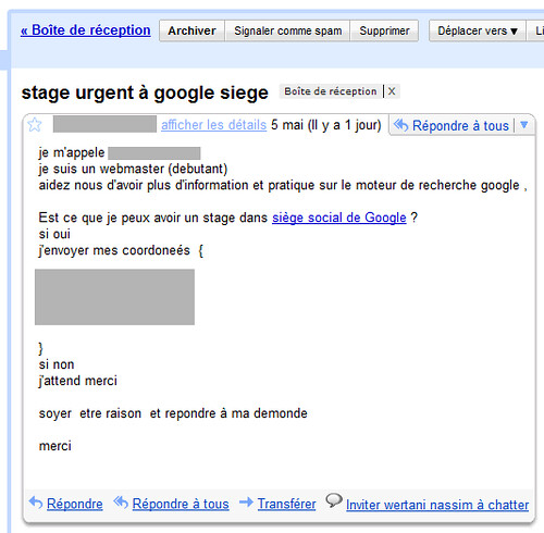 Blague Stage Urgent à Google Siege | LE billet ...