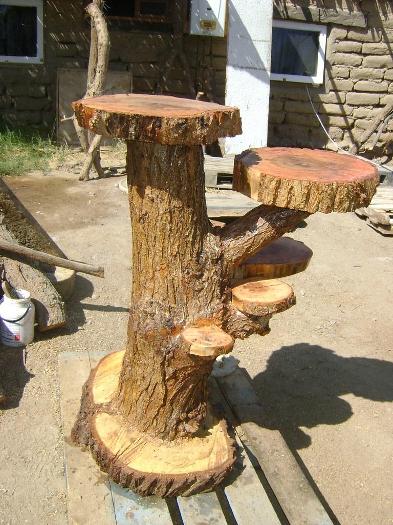 muebles rusticos de troncos repisa de tronco con 6