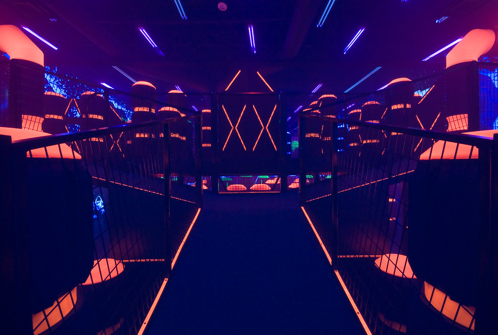Base Station Two Story Laser Tag Arena At The Main Event