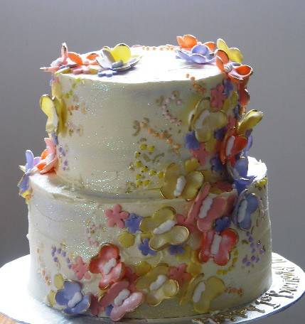 Cake Images Butterfly : Butterfly Birthday Cake Butterflies cascading down the ...