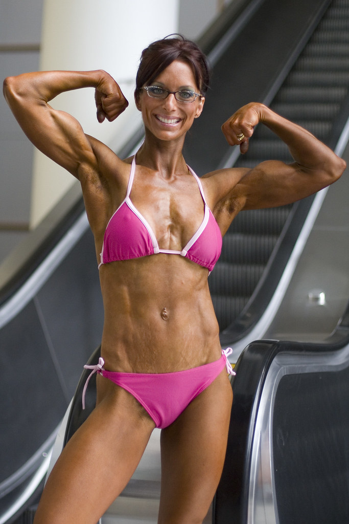 Biceps | This woman has been bodybuilding for two years