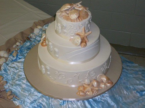 Chocolate Seashells For Wedding Cakes
