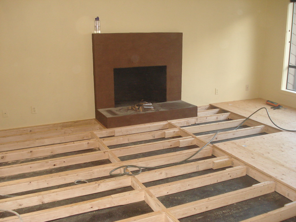 raising a sunken living room raised bamboo floor 2 framing necessary to raise sunken 19280
