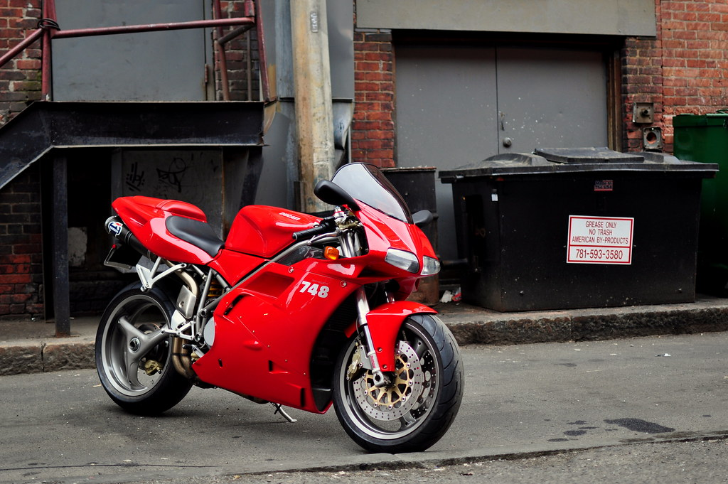 ducati 748 my red 2001 ducati 748 biposto taken in boston flickr. Black Bedroom Furniture Sets. Home Design Ideas