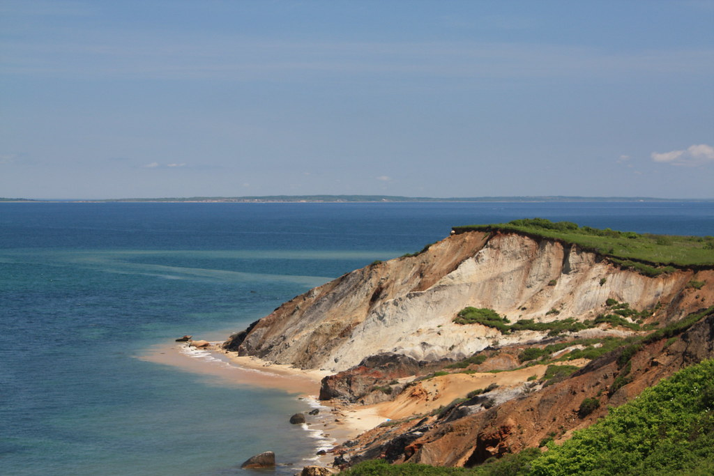 Gay Head Cliffs Of Clay At The Westernmost Point Of