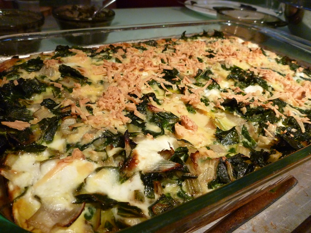 Baked Eggs and Vegetables | Zucchini, summer squash, chard ...