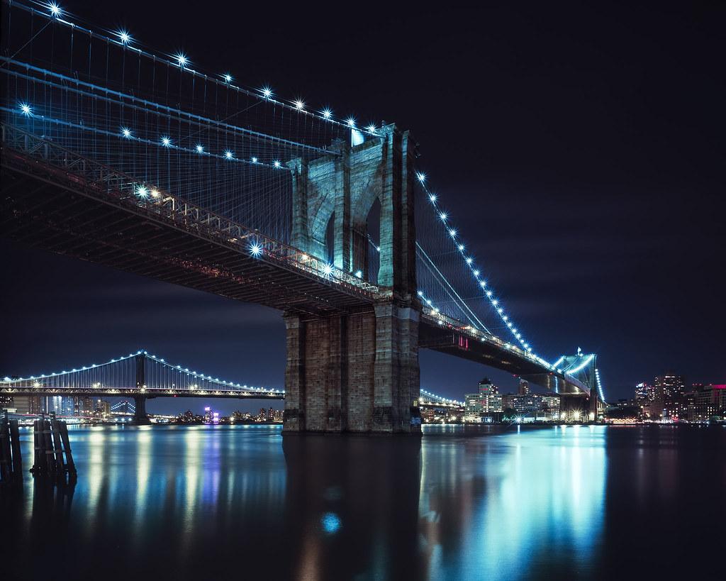 Brooklyn Bridge At Night, Nyc