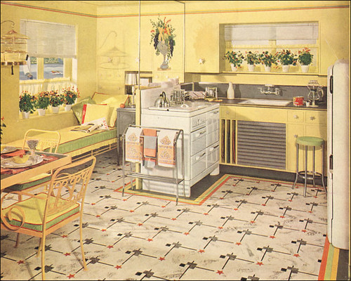 1941 Yellow Amp Green Armstrong Kitchen From The Mid 30s