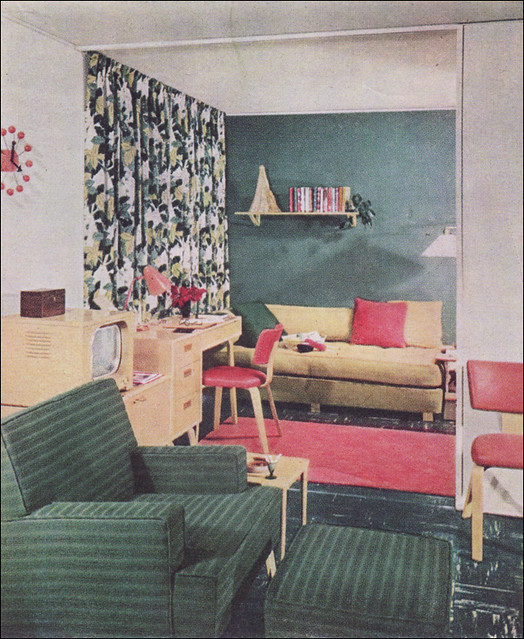 Impress Guests With 25 Stylish Modern Living Room Ideas: 1951 Modern Living Room - Levitt Plan