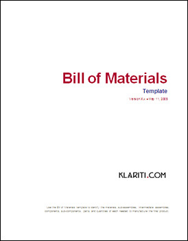 bill of materials ms word template a bill of materials flickr. Black Bedroom Furniture Sets. Home Design Ideas