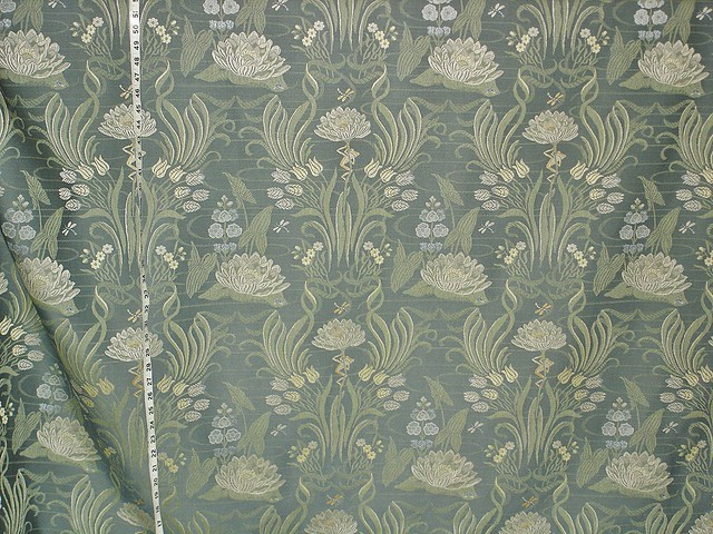 Pond Frog Dragonfly Lotus Upholstery Fabric A Wonderful Pa Flickr
