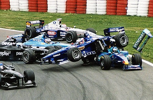 1998 canada gp restart crash with jarno trulli 39 s prost peu flickr. Black Bedroom Furniture Sets. Home Design Ideas