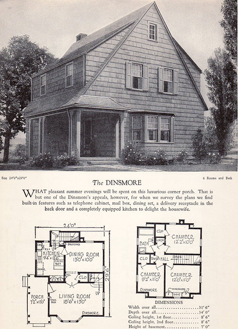 1928 home builders catalog the dinsmore from the for The dinsmore house
