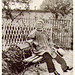 Bonheur, Rosa (1822-1899) - 1940s In the Garden of her Chateau at By (unknown photograper)