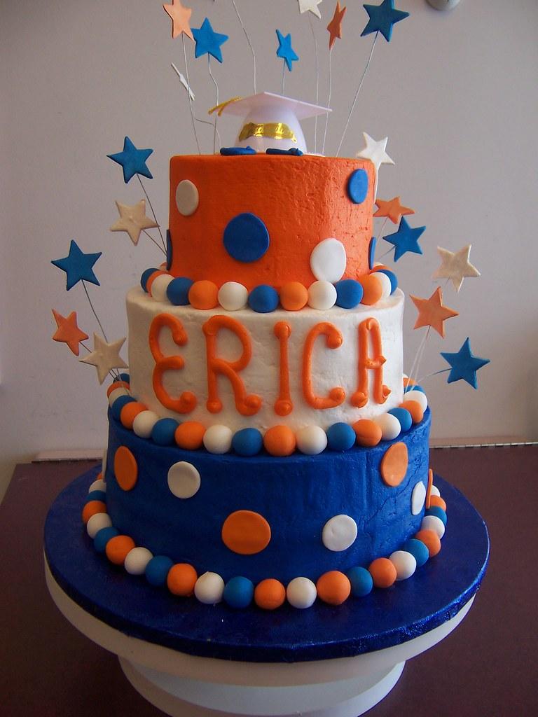 Royal Blue And Orange Wedding Cakes