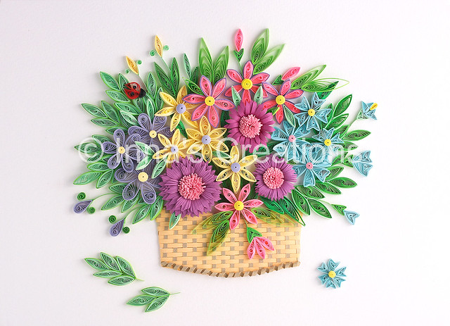 Flower basket paper quilling created by inna increations flickr paper quilling by innas creations flower basket paper quilling by innas creations mightylinksfo