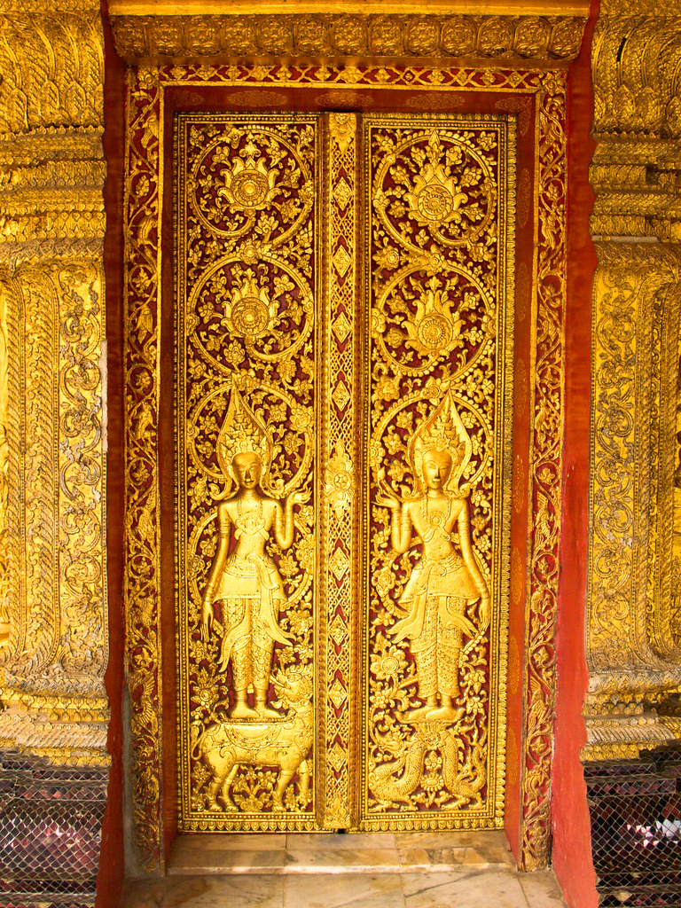The Gilded Door Of A Buddhist Temple In Luang Prabang Lao HD Wallpapers Download free images and photos [musssic.tk]