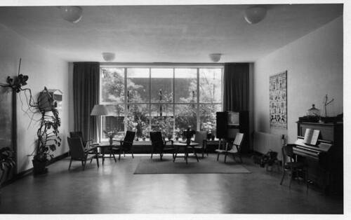 Interieur van 39 de stevin 39 toenmalige dependance van het for Interieur 1960