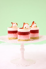pistachio, rhubarb, strawberry and white chocolate | by cannelle-vanille