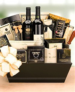 The 5th avenue wine gift basket mothersdaygiftsbaskets for Luxury gifts for mom