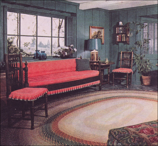 American Colonial Interiors: 1952 Color For Colonial Interior, #2