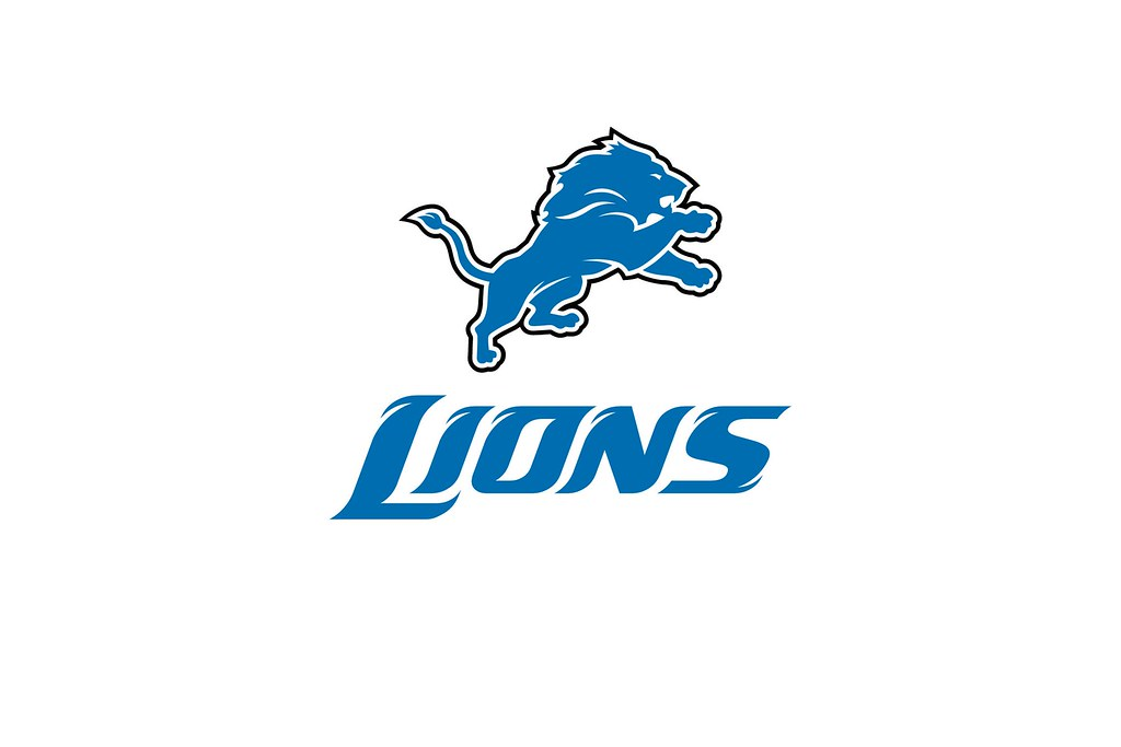 new detroit lions logo logotype desktop background by kishcollageit