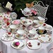 Vintage mismatched china tea set for a Mad Tea Party