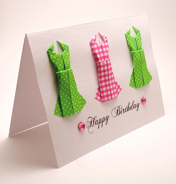 origami birthday card instructions