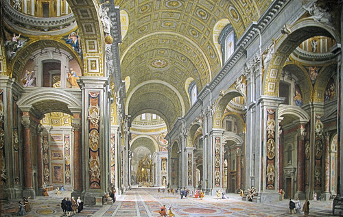 Interno delle basilica di san pietro dall 39 entrata for Interno san pietro