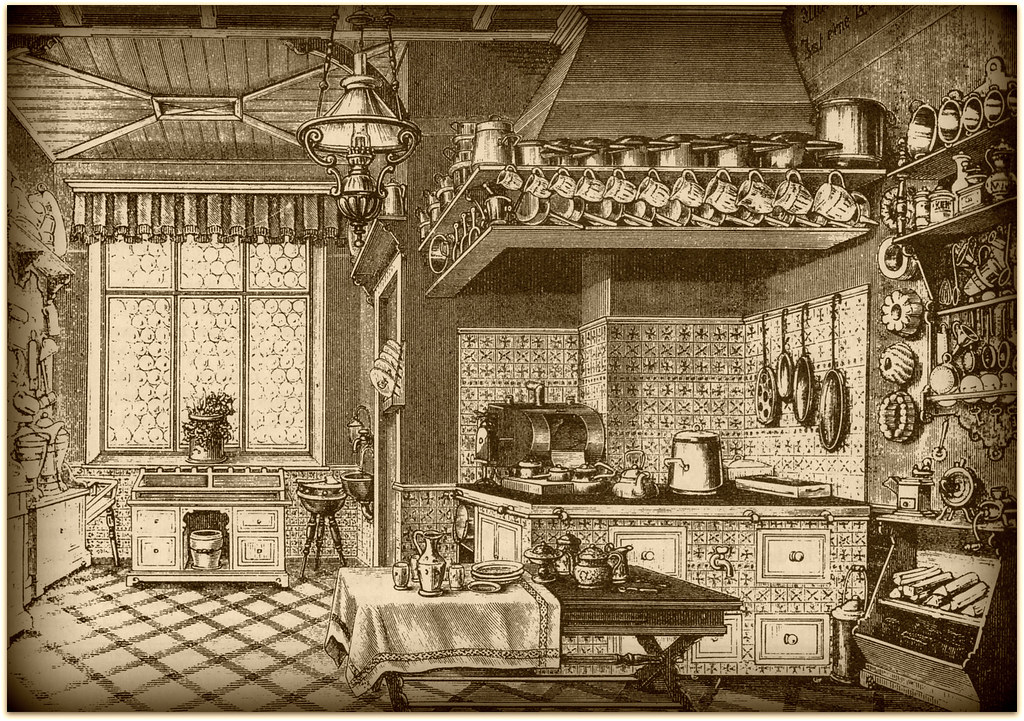 Victorian kitchen free to use for your work julka2009 for Kitchen set drawing
