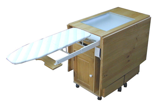 Folding Cutting Table With Ironing Board Out Flickr