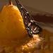Pera cotta con zabaione al Marsala e mandorle