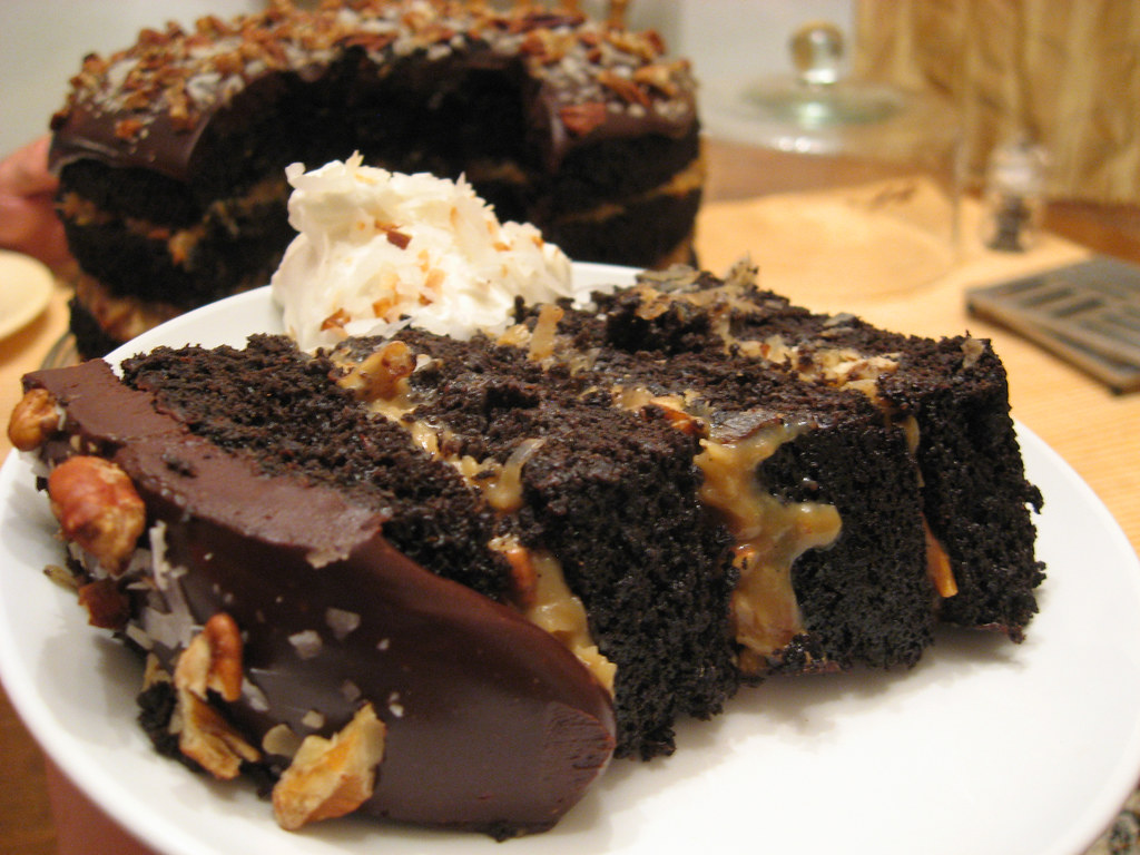 German Chocolate Cake Recipe With Cream Cheese Filling