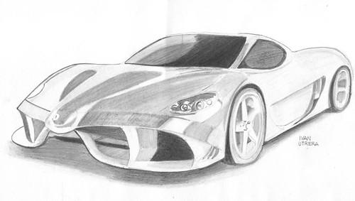 Ferrari dibujo a lapiz - Imagui