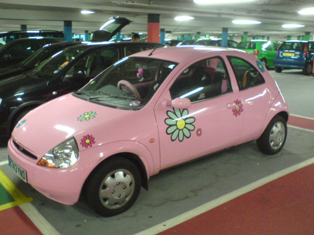 Pink Ford Ka By Coulby Chap