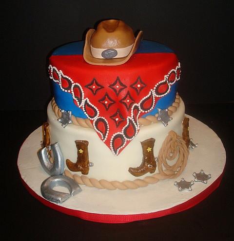 Happy Birthday Rodeo Cake