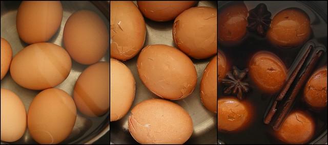 Thee eieren maken