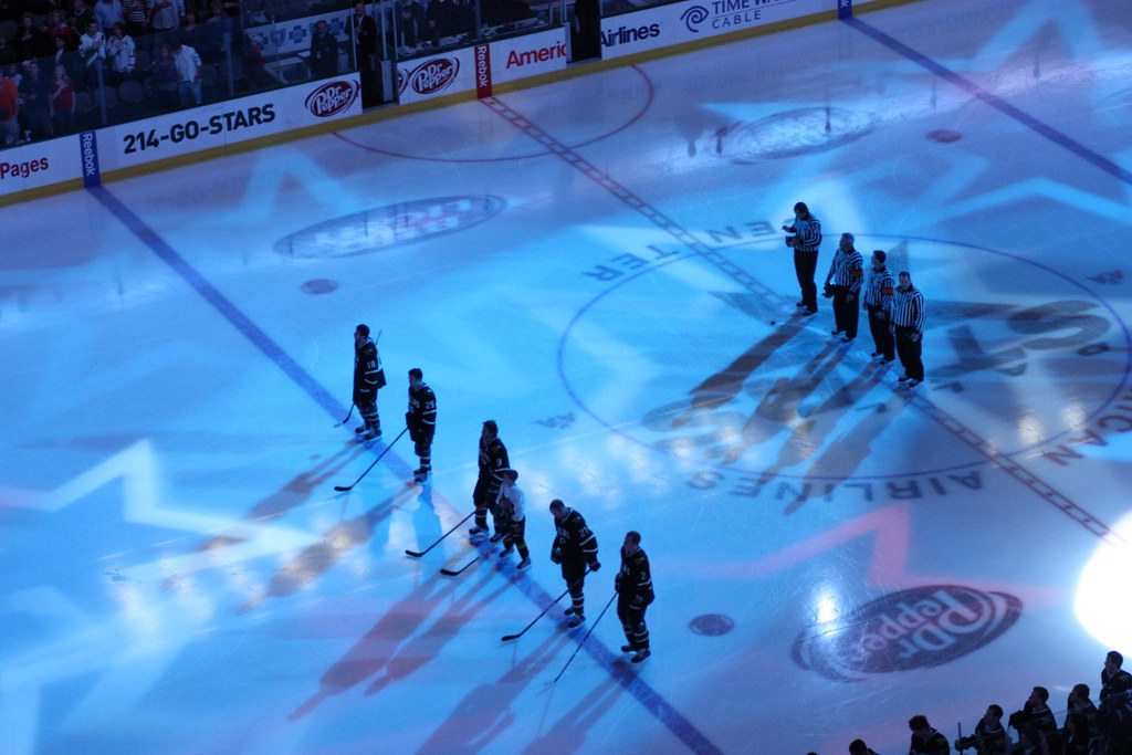 Star Spangled Banner | Dallas Stars during the Star Spangled ...