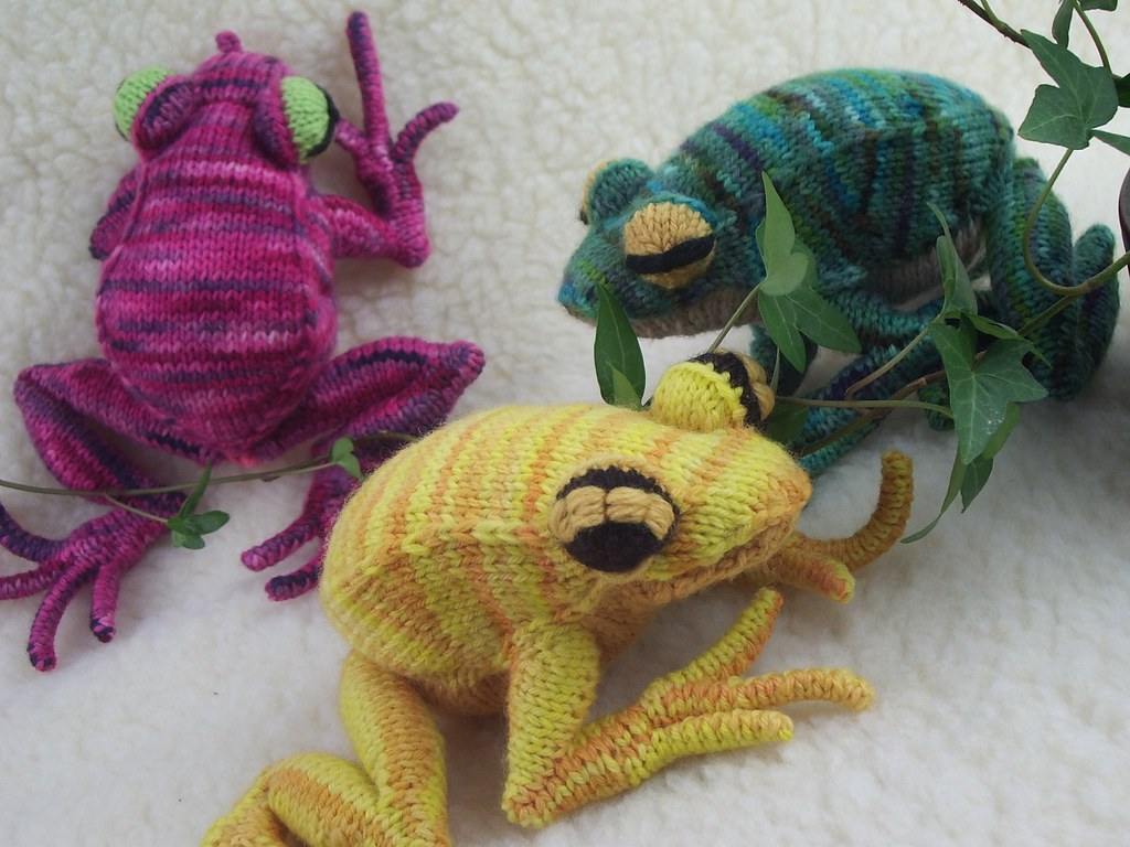Free Frog Knitting Pattern : A Posse of Frogs The knitting pattern for these little guy? Flickr