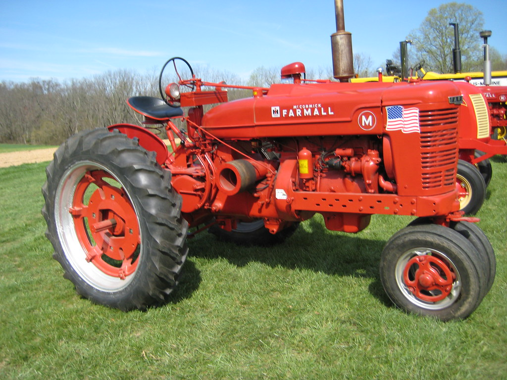 Red Brand New Farmall Tractors : Vintage red farmall tractor a at the