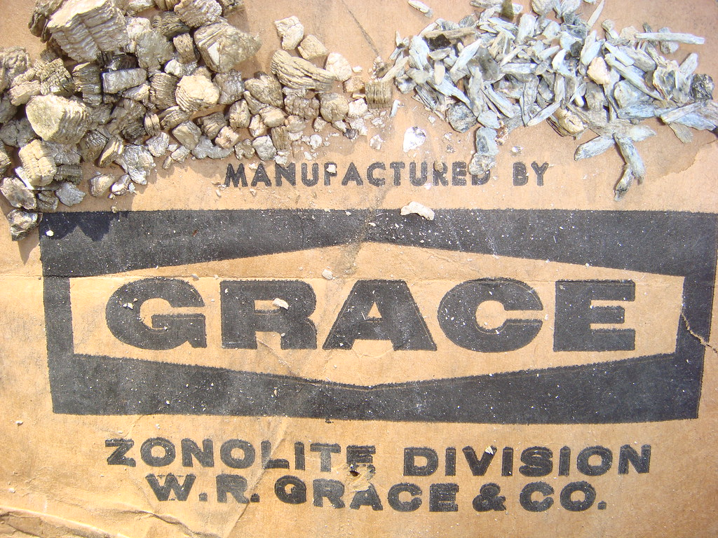 W R Grace Label Zonolite Vermiculite Amp Tremolite Asbestos