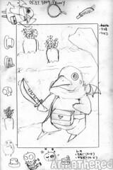 sketch for bento #50: Prinny bento