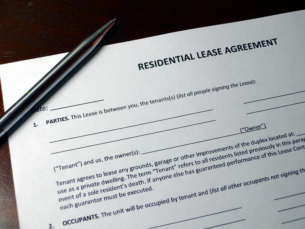 Residential Lease Agreement With Pen Residential Lease