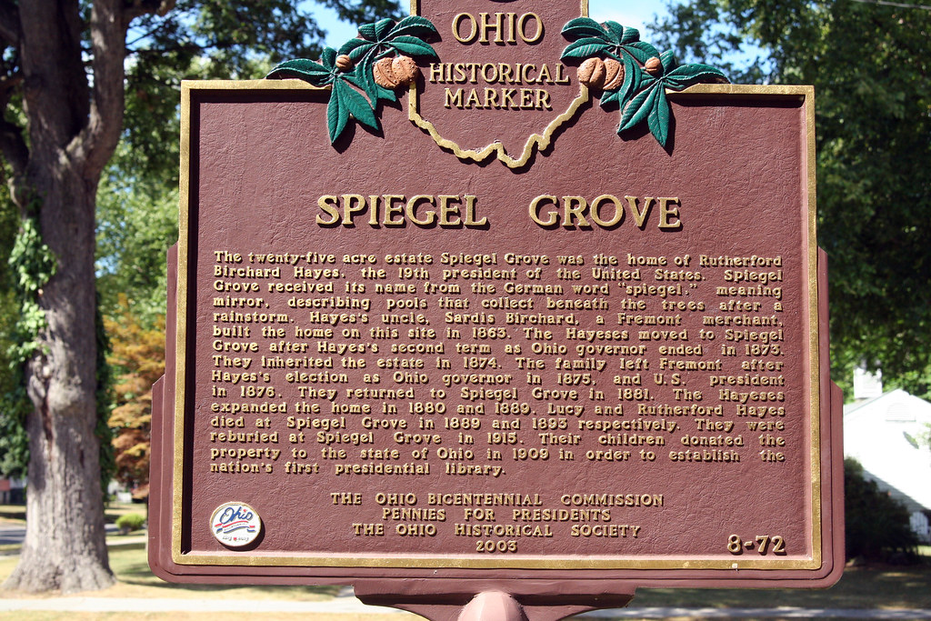 history of the grove as the sign reads spiegel grove. Black Bedroom Furniture Sets. Home Design Ideas