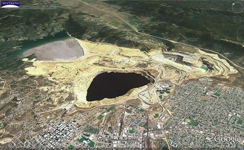 Berkeley Pit Copper / Gold Mine - Butte, Montana - View to Northeast | by SkyTruth