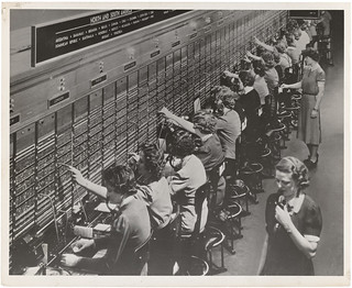 Photograph of Women Working at a Bell System Telephone Switchboard | by The U.S. National Archives