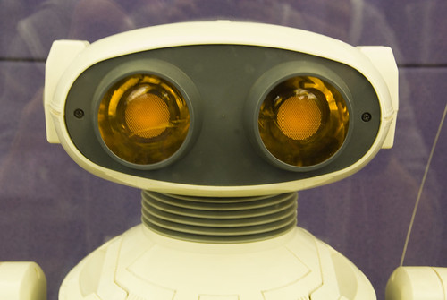 robot with eyes