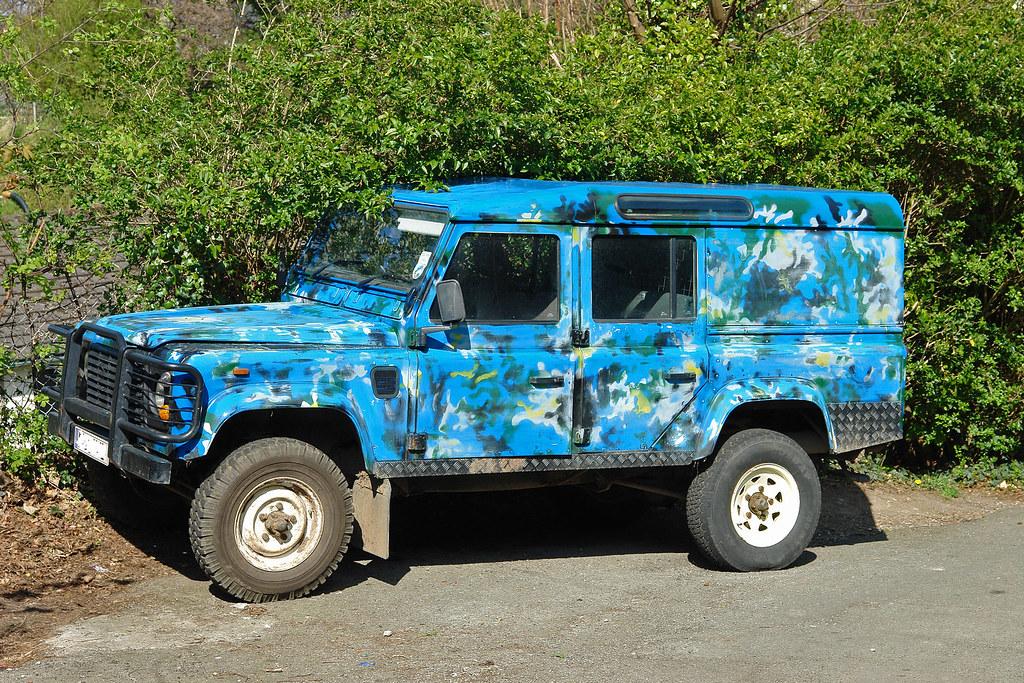 Custom Paint Job Land Rover Defender With Custom Blue