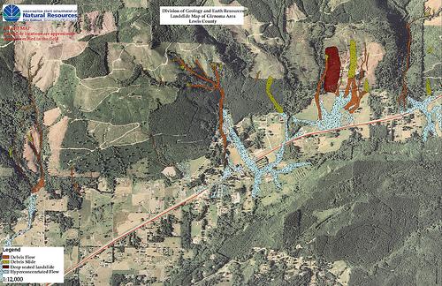 Landslide Maps Washington Landslide Map Forest Creek